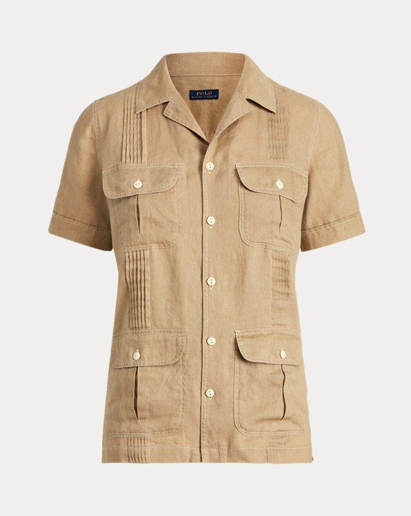 Pintucked Linen Shirt