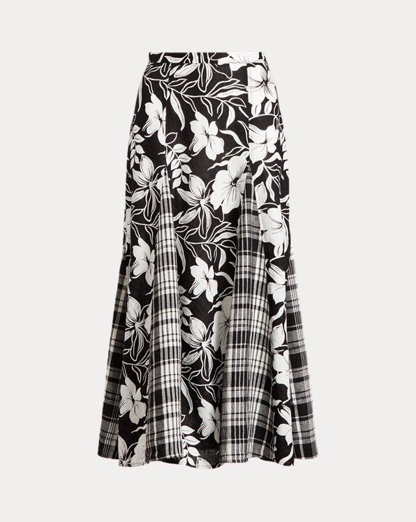 Linen Panelled Skirt