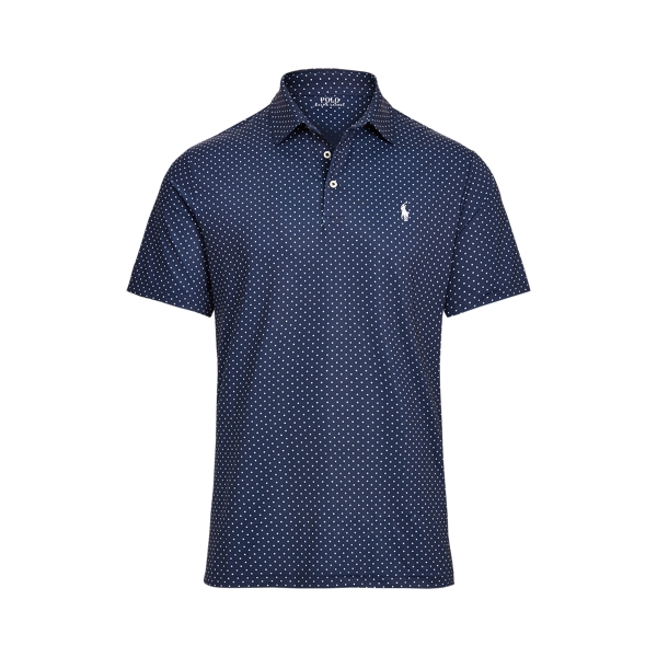 Ralph Lauren Classic Fit Performance Polo Shirt In French Navy Micro Diamond