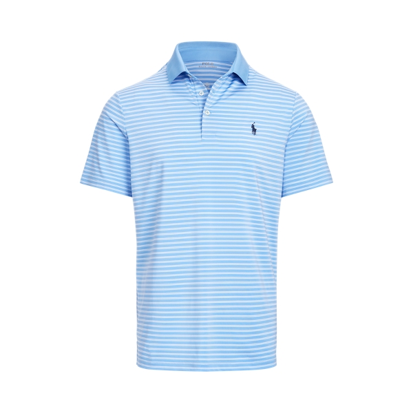 Ralph Lauren Classic Fit Performance Polo Shirt In Cabana Blue/pure White