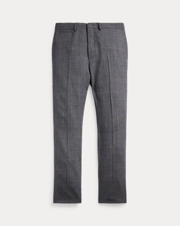 Karierte Slim-Fit Anzughose aus Wolle