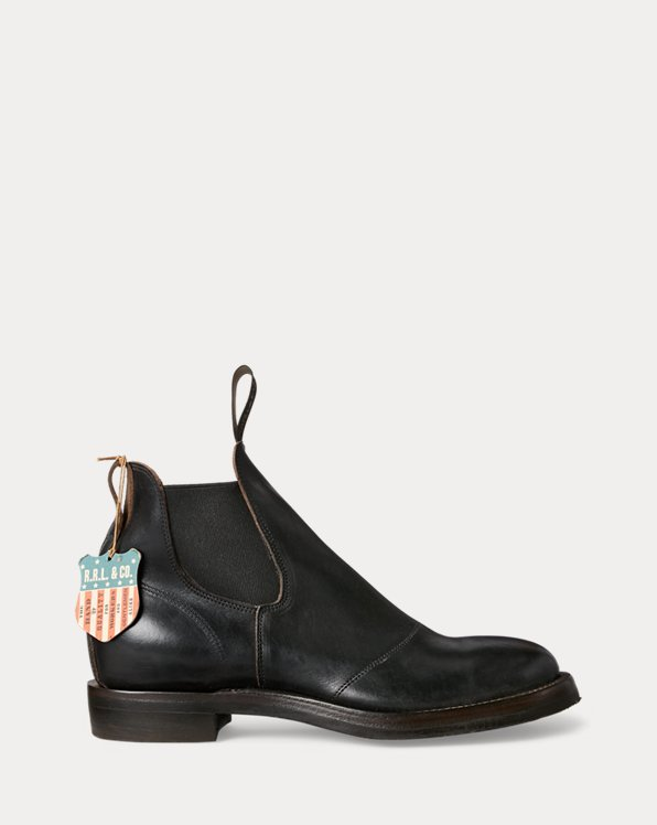 Hand-Burnished Leather Chelsea Boot