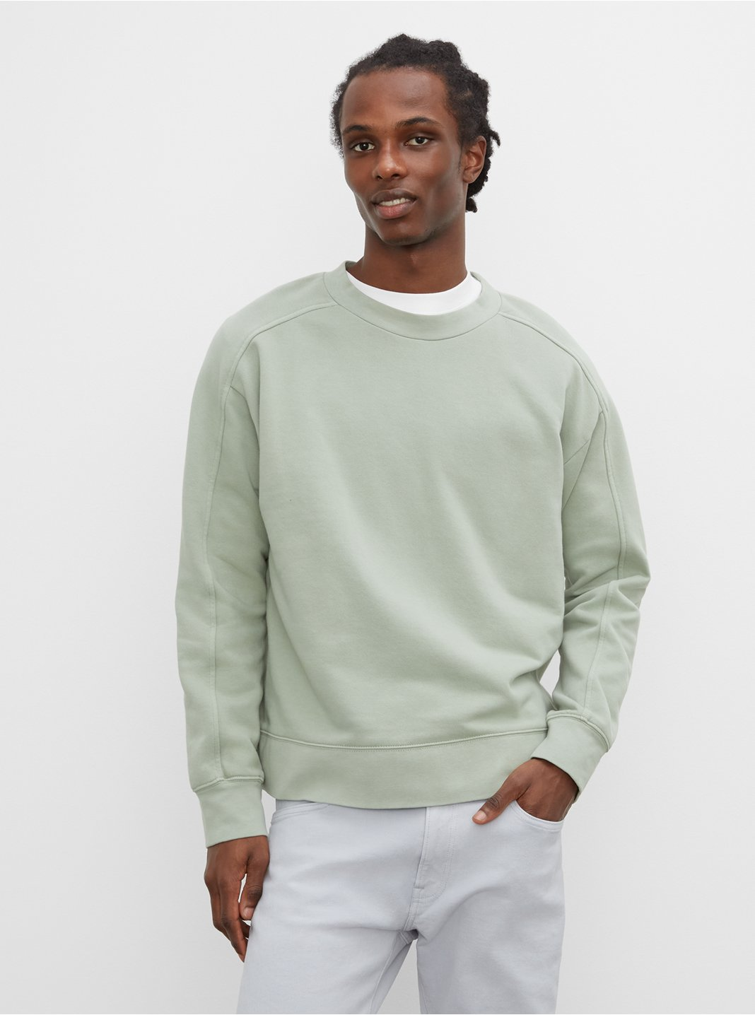 Oversized Tea Dyed Crew Sweatshirt