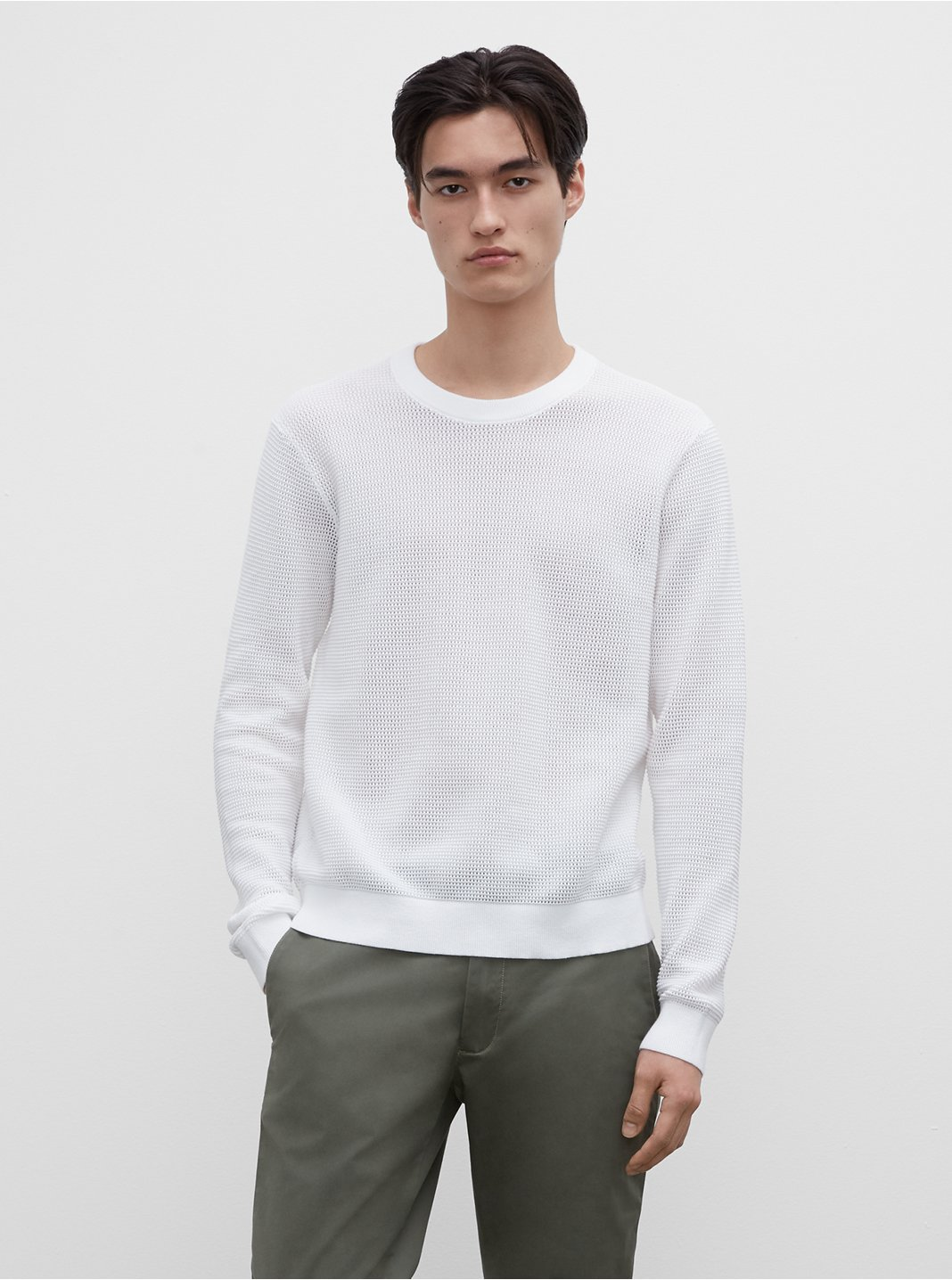 Mesh Crew Sweater
