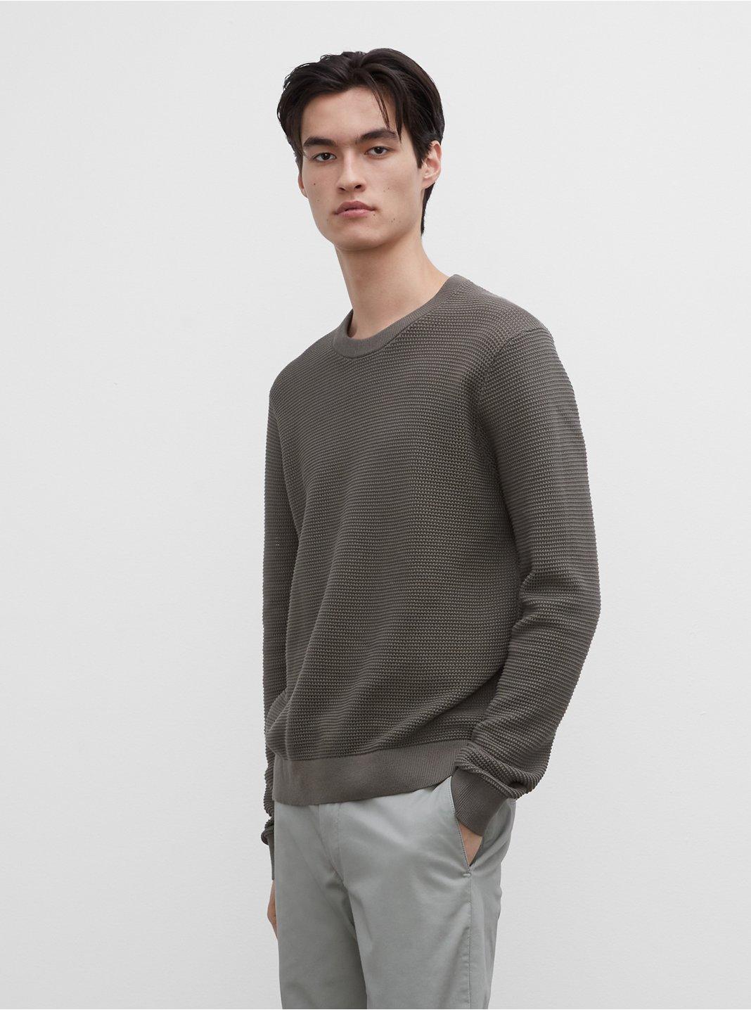 Summer Mesh Crew Sweater