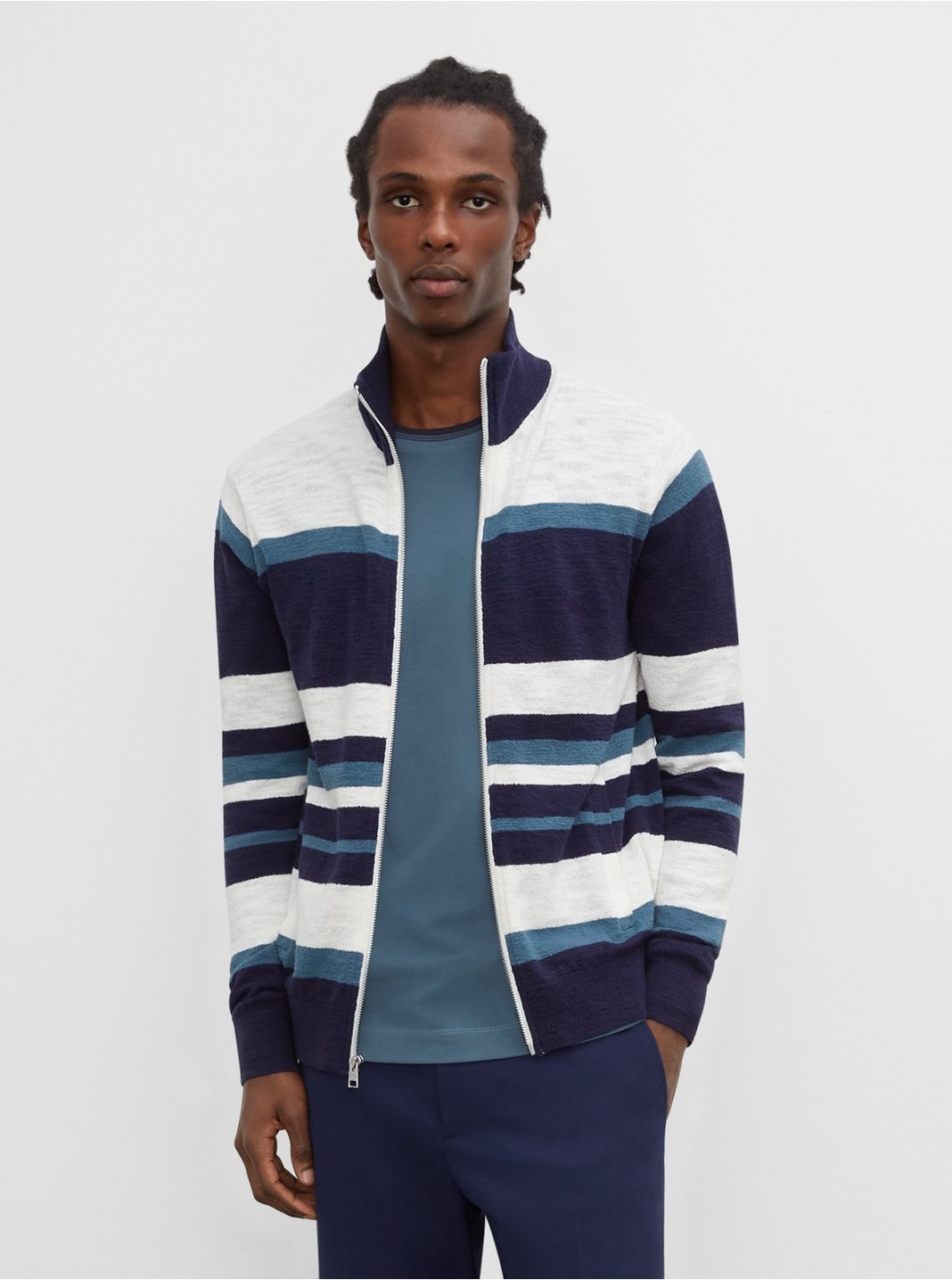 Slub Striped Bomber