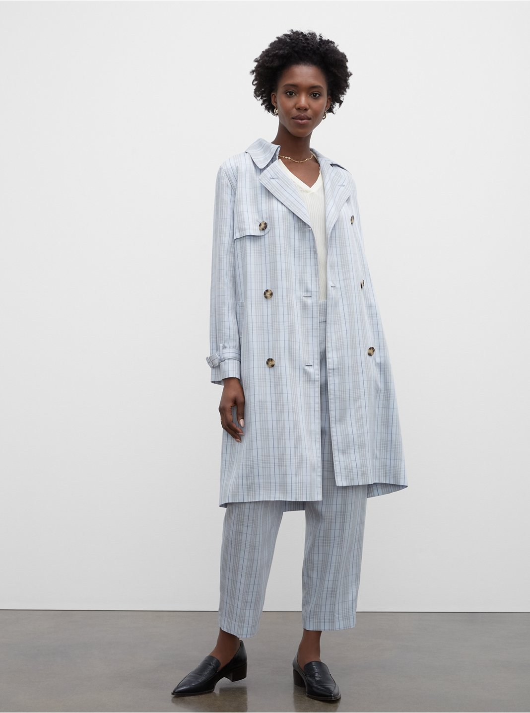 The Plaid Everywear Trench
