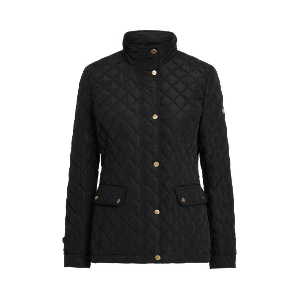 로렌 랄프로렌 자켓 Polo Ralph Lauren Quilted Mockneck Jacket,Black