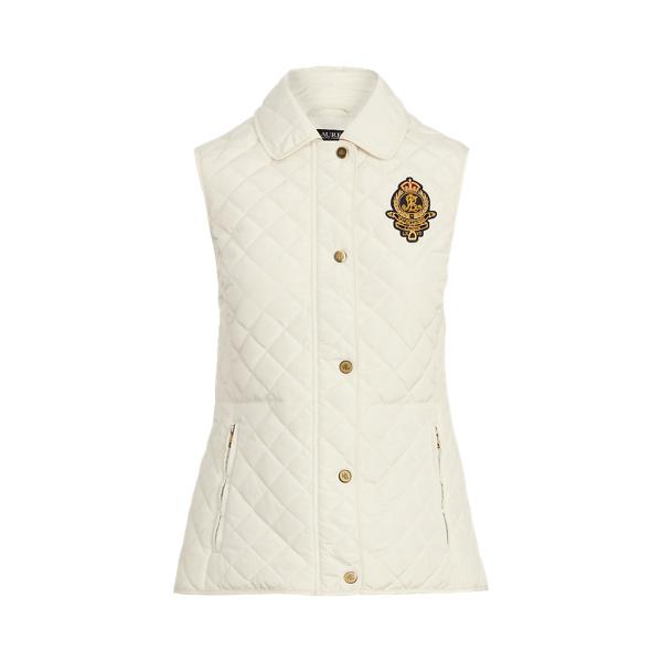 로렌 랄프로렌 조끼 Polo Ralph Lauren Bullion-Crest Quilted Vest,Cream