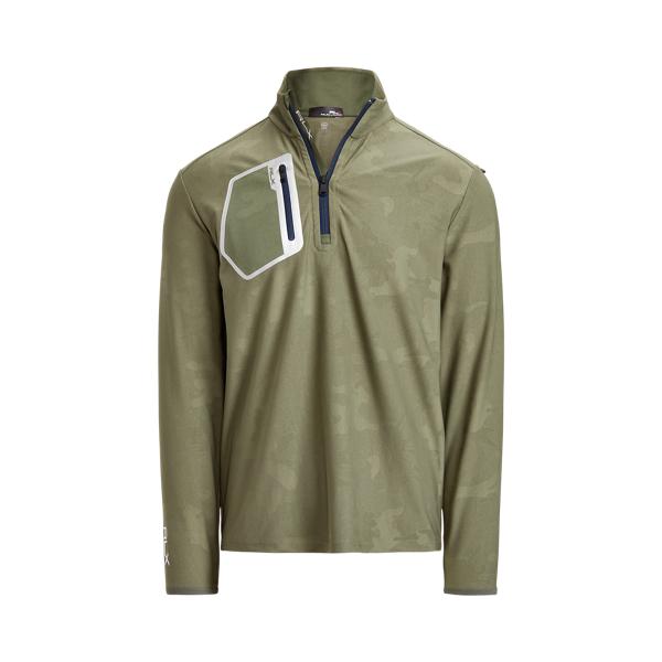 폴로 랄프로렌 남성 골프웨어 Polo Ralph Lauren Stretch Quarter Zip Pullover,파슬 Fossil Green Camo