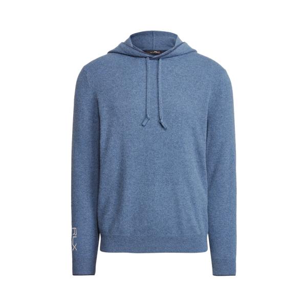 폴로 랄프로렌 남성 골프웨어 Polo Ralph Lauren Washable Cashmere Hooded Sweater,Dark River Blue Heather