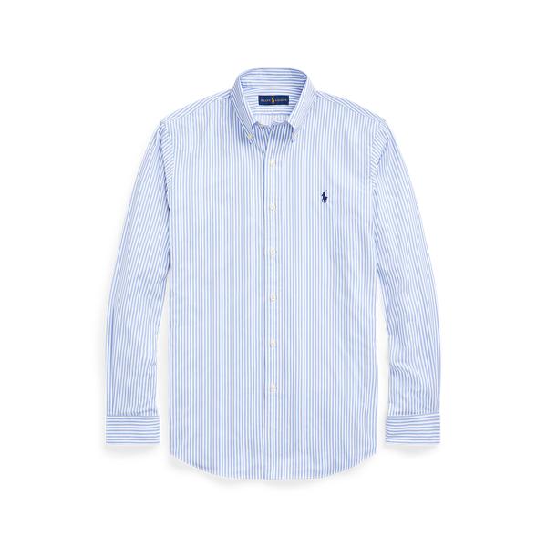 Ralph Lauren Classic Fit Striped Performance Shirt In Blue
