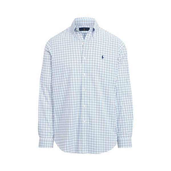 Ralph Lauren Classic Fit Tattersall Performance Shirt In White