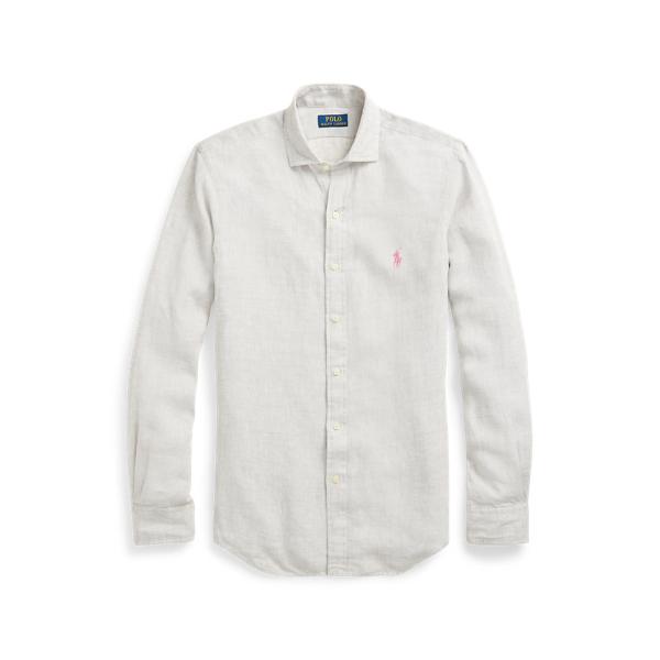 Ralph Lauren Classic Fit Linen Shirt In Grey