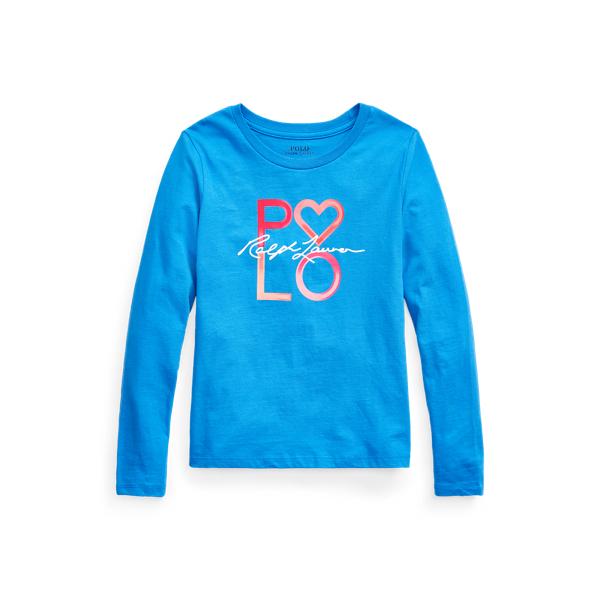 폴로 랄프로렌 Polo Ralph Lauren Logo Cotton Jersey Tee,Blue