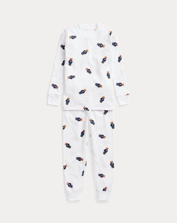Polo Bear Stretch Jersey Sleep Set