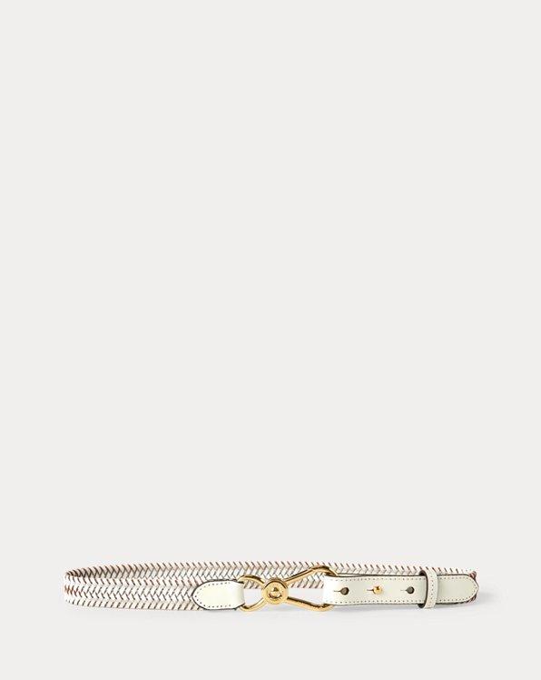 Nautical Clip Braided Leather Belt