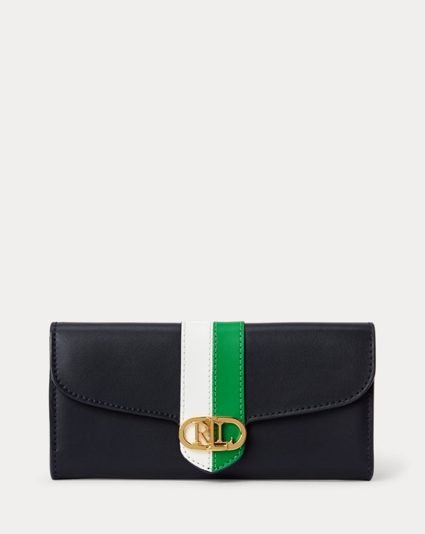 Pebbled Leather Continental Wallet