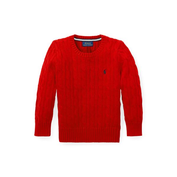폴로 랄프로렌 Polo Ralph Lauren Cable Knit Cotton Sweater,RL 2000 Red