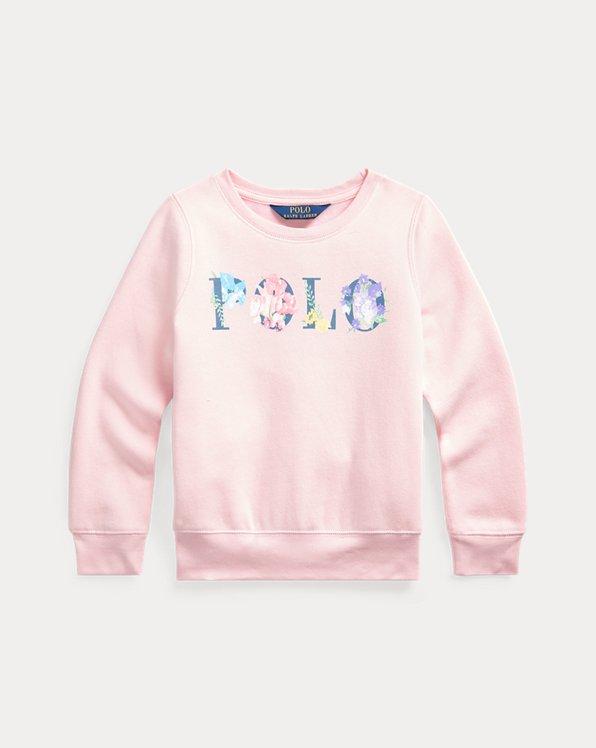 Floral Logo Fleece Sweatshirt