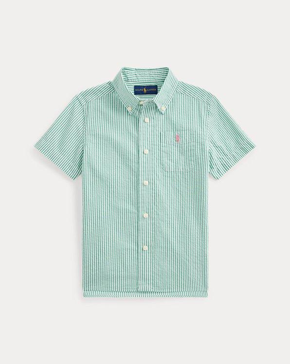 Striped Cotton Seersucker Shirt
