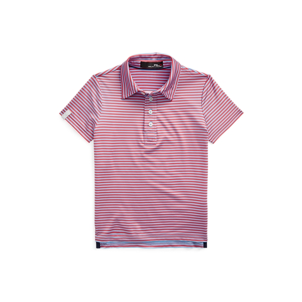 Polo Ralph Lauren Kids' Rlx Golf Performance Polo Shirt In Pink
