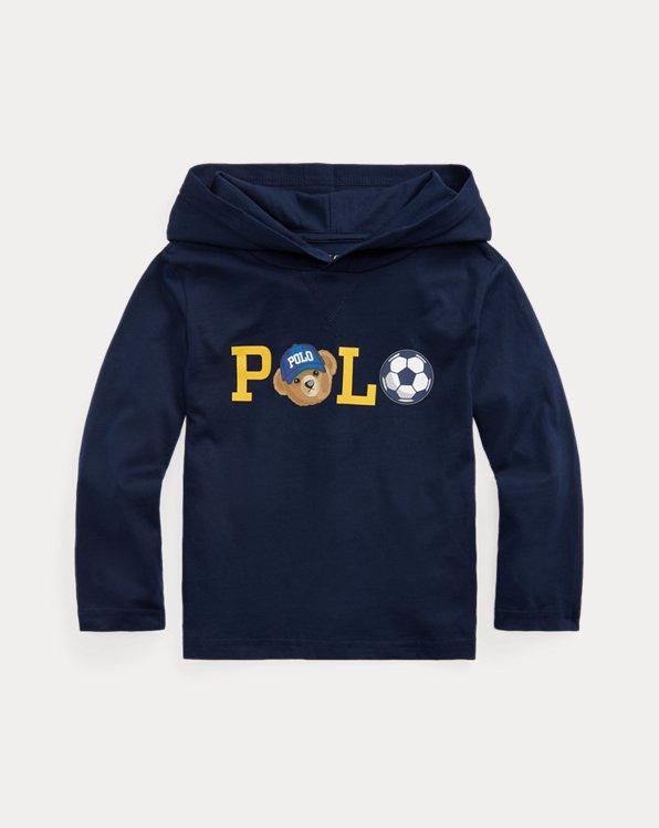 Polo Bear Logo Cotton Hooded Tee