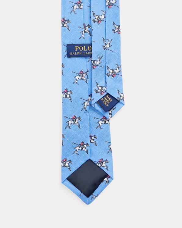 Print Linen Tie