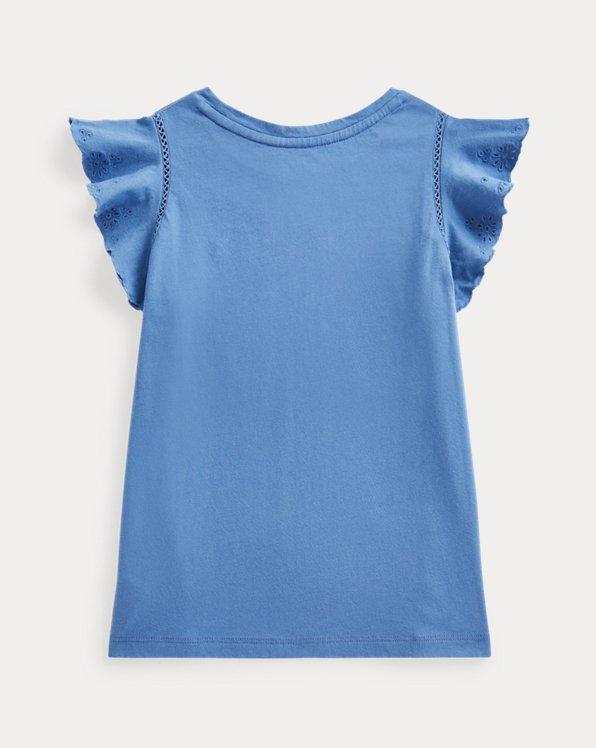 Eyelet Cotton Jersey Top