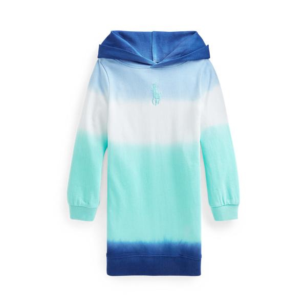 Polo Ralph Lauren Kids' Ombré Spa Terry Hoodie Dress In Blue Ombre