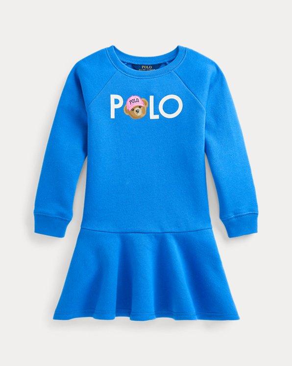 Polo Bear Logo Fleece Dress