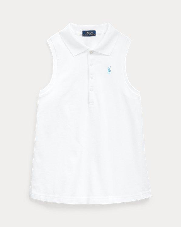 Stretch Mesh Sleeveless Polo Shirt