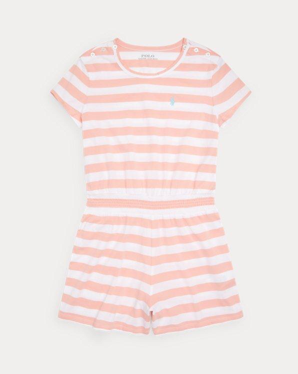 Striped Cotton Jersey Romper