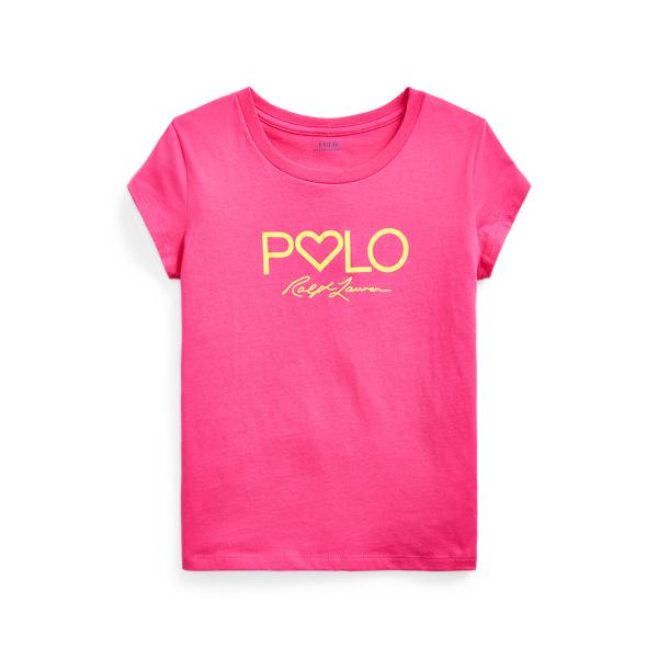 폴로 랄프로렌 Polo Ralph Lauren Logo Cotton Jersey Tee,Accent Pink
