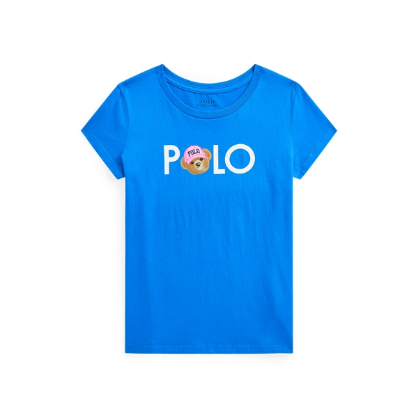 폴로 랄프로렌 Polo Ralph Lauren Polo Bear Logo Cotton Jersey Tee,Colby Blue