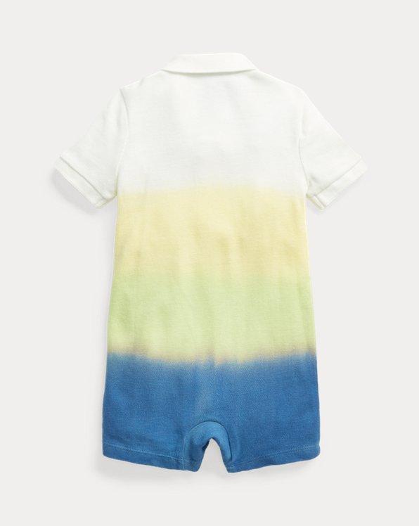 Dip-Dyed Cotton Mesh Polo Shortall