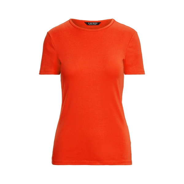 Lauren Cotton Blend T Shirt,Bright Hibiscus