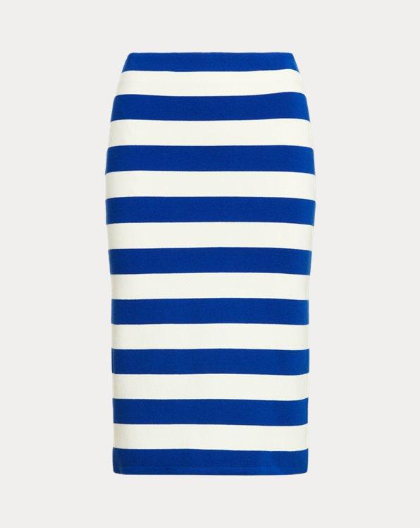 Striped Cotton-Blend Skirt