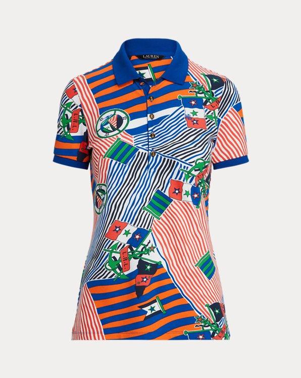 Print Piqué Polo Shirt