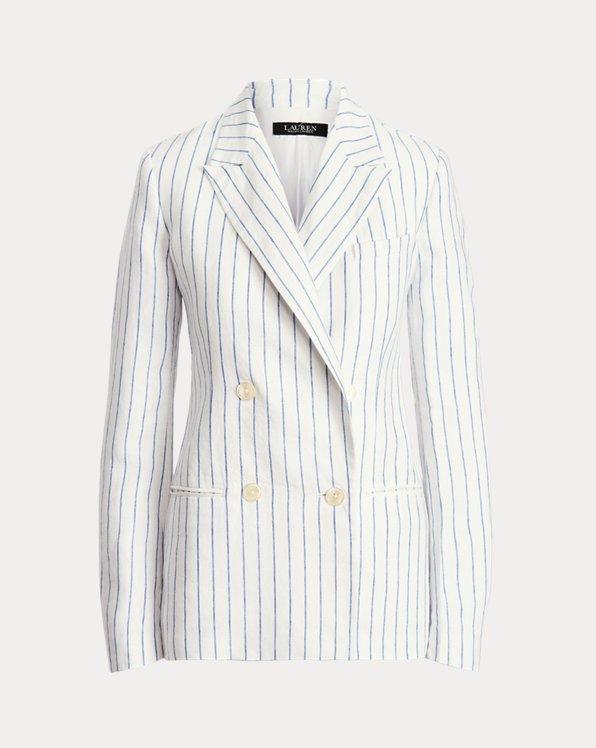 Pinstripe Linen Blazer