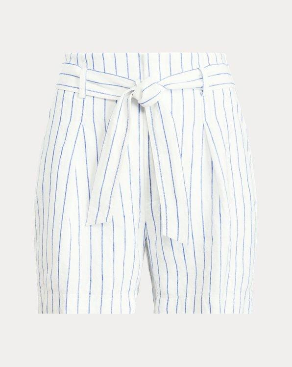 Pinstripe Linen Short