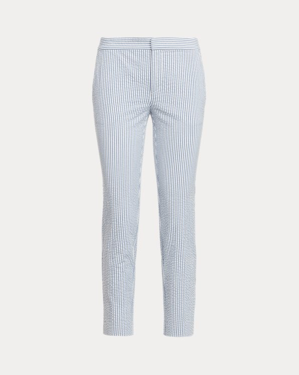Seersucker Skinny Pant