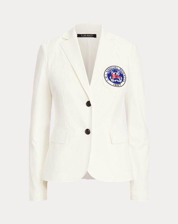 Nautical Stretch Cotton Blazer