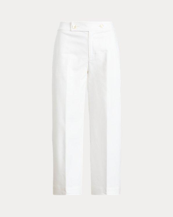 Double-Faced Cotton Wide-Leg Pant