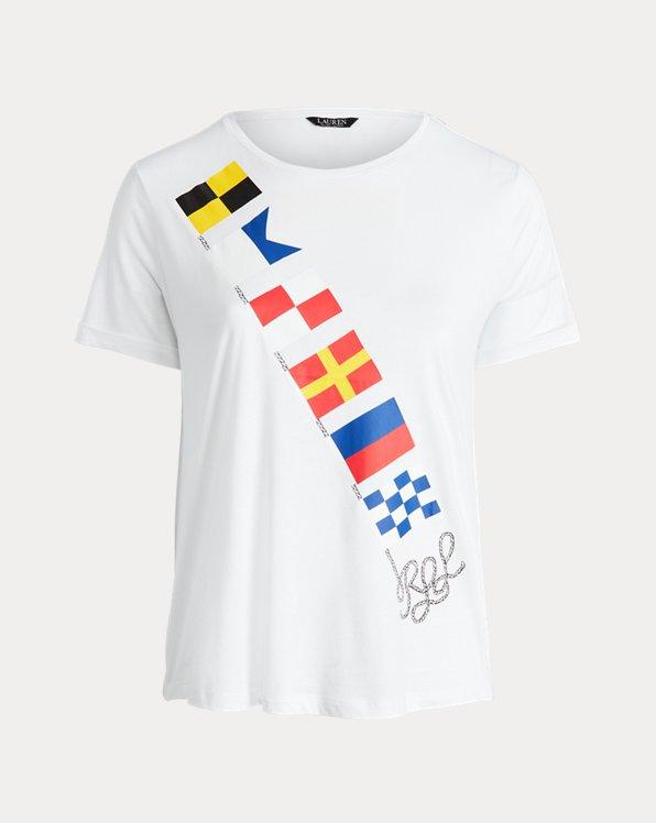 Flag-Print Jersey Tee
