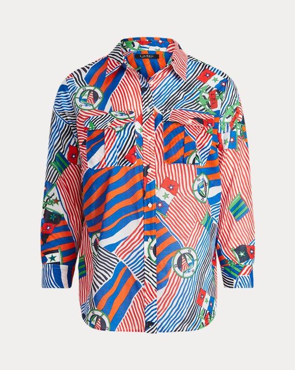 Print Cotton Voile Shirt