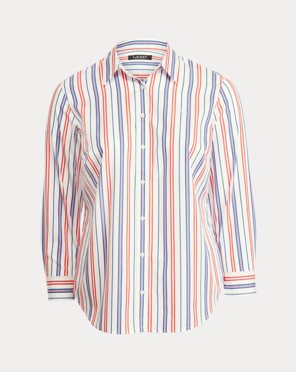 Striped Cotton Broadcloth Shirt