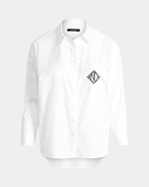 Logo Cotton Broadcloth Shirt