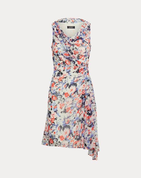 Floral Georgette Sleeveless Dress