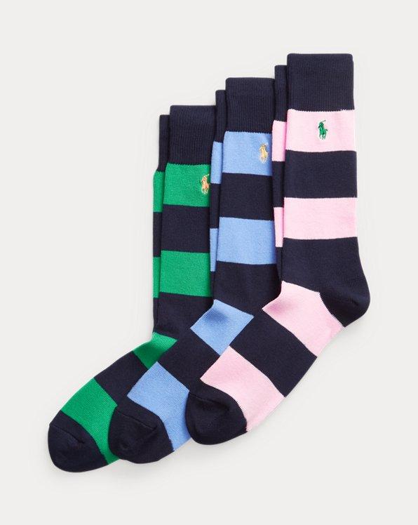 3 paires de chaussettes de sport rayées